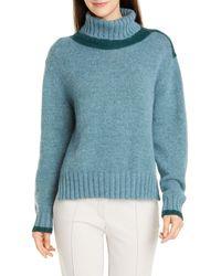 Seventy Mohair Blend Turtleneck Sweater - Blue