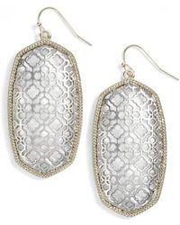 Kendra Scott - Danielle Large Openwork Statement Earrings - Lyst