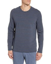 Daniel Buchler - Stripe Stretchy Cotton & Modal Long Sleeve Crewneck T-shirt - Lyst