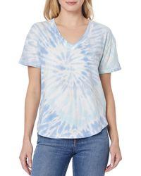 C&C California Cora V-neck Slouch T-shirt - Blue
