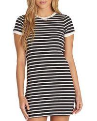 Billabong - Go Around Stripe T-shirt Dress - Lyst