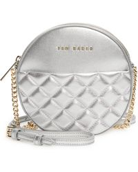Ted Baker Cirrcus Quilted Leather Circle Crossbody Bag - Metallic