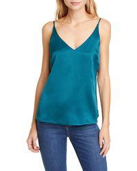 L'Agence - Gabriella V-neck Silk Camisole - Lyst