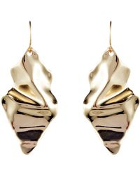 Alexis Bittar - Retro Gold Collection Crumpled Drop Earrings - Lyst