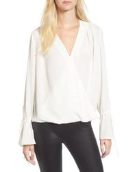 Trouvé - Surplice Tie Sleeve Top - Lyst