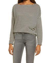AllSaints Rita Stripe Top - Black
