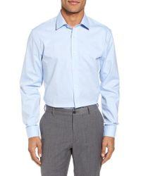 Nordstrom - Tech-smart Trim Fit Stretch Pinpoint Dress Shirt - Lyst