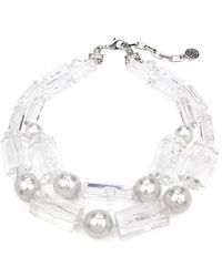 Ben-Amun - Imitation Pearl & Lucite Necklace - Lyst