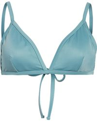 Madewell Second Wave Bralette Bikini Top - Blue