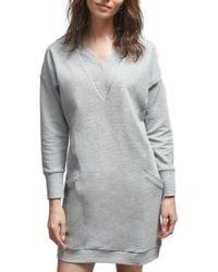 ALLETTE Margot Nursing Sweater Dress - Gray