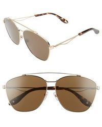 22b6df3739 Lyst - Givenchy Tinted Square Sunglasses Black in Metallic