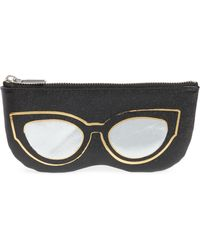 Rebecca Minkoff - Cat Eye Sunnies Print Leather Pouch - - Lyst