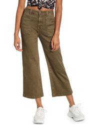 Vigoss Crop Flare Carpenter Pants - Green