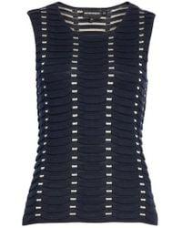 Emporio Armani | Jacquard Relief Knit Shell | Lyst
