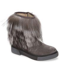 Sheridan Mia Tomtom Genuine Fox Fur Bootie - Gray