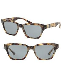 Tory Burch - Classic Stacked 51mm Sunglasses - Lyst