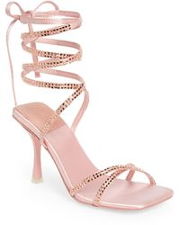 Jeffrey Campbell Jeffery Campbell Shimmer Strappy Ankle Tie Sandal - Pink