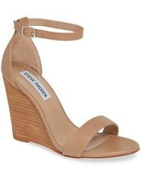 Steve Madden - Mary Ankle Strap Wedge - Lyst