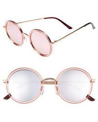 Privé Revaux - X Madelaine Petsch The Street 53mm Round Sunglasses - Lyst