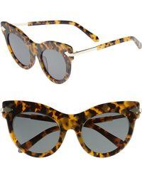 Karen Walker - Miss Lark 52mm Cat Eye Sunglasses - Crazy Tortoise - Lyst