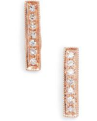 Dana Rebecca - Sylvie Rose Diamond Bar Stud Earrings - Lyst