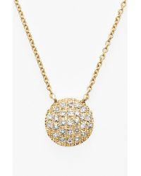 Dana Rebecca 'lauren Joy' Diamond Disc Pendant Necklace - Metallic