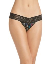 Hanky Panky - Violets Are Blue Low Rise Thong - Lyst