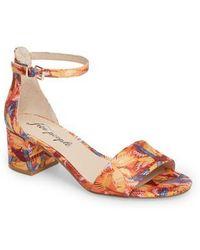 Marigold Tropical Suede Sandals WNNlB9