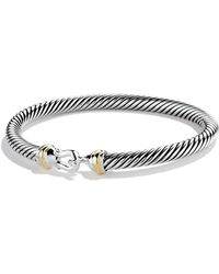 David Yurman Cable Classic Buckle Bracelet With 18k Gold - Metallic