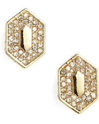 Vince Camuto | Pave Crystal Stud Earrings | Lyst