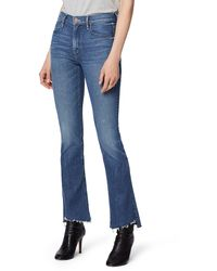 Mother The Runaway Step Fray Hem Skinny Flare Jeans - Blue