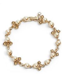 Givenchy - Imitation Pearl & Crystal Bracelet - Lyst