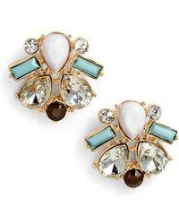 Adia Kibur - Crystal & Stone Stud Earrings - Lyst