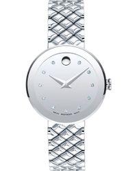 Movado - Sapphire Diamond Bracelet Watch - Lyst
