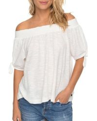 Roxy | Caribbean Mood Off The Shoulder Top | Lyst