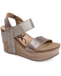 Otbt 'bushnell' Wedge Sandal - Metallic