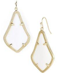 Kendra Scott Alex Drop Earrings - White