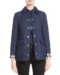 Burberry Westbridge Quilted Jacket - Blue