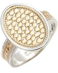 Anna Beck - Oval Skinny Band Ring - Lyst