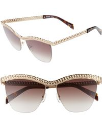 Moschino - 57mm Rimless Metal Bar Polarized Sunglasses - Lyst