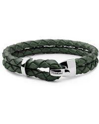 Miansai - Beacon Braided Leather Bracelet - Lyst