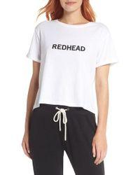 BRUNETTE the Label - Redhead Crop Tee - Lyst