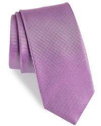 BOSS - Geometric Neat Silk Tie - Lyst