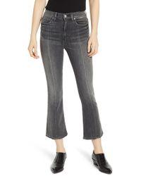 Hudson Jeans Holly High Waist Crop Flare Jeans - Multicolour