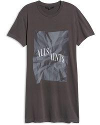 AllSaints - Brecon T-shirt Dress - Lyst