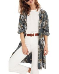 Madewell - Painted Blooms Robe Jacket - Lyst