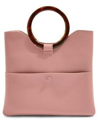 TOPSHOP - Cookie Faux Leather Clutch - Lyst