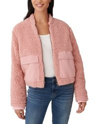 Lucky Brand Utility Teddy Coat - Pink