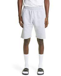 Off-White c/o Virgil Abloh Marker Stripe Sweat Shorts - Gray