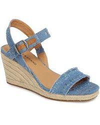 Lucky Brand - Marceline Squared Toe Wedge Sandal - Lyst